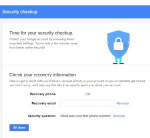 گوگل و 2 گیگابایت فضای رایگان گوگل درایو در مقابل چک کردن تنظیمات امنیتی